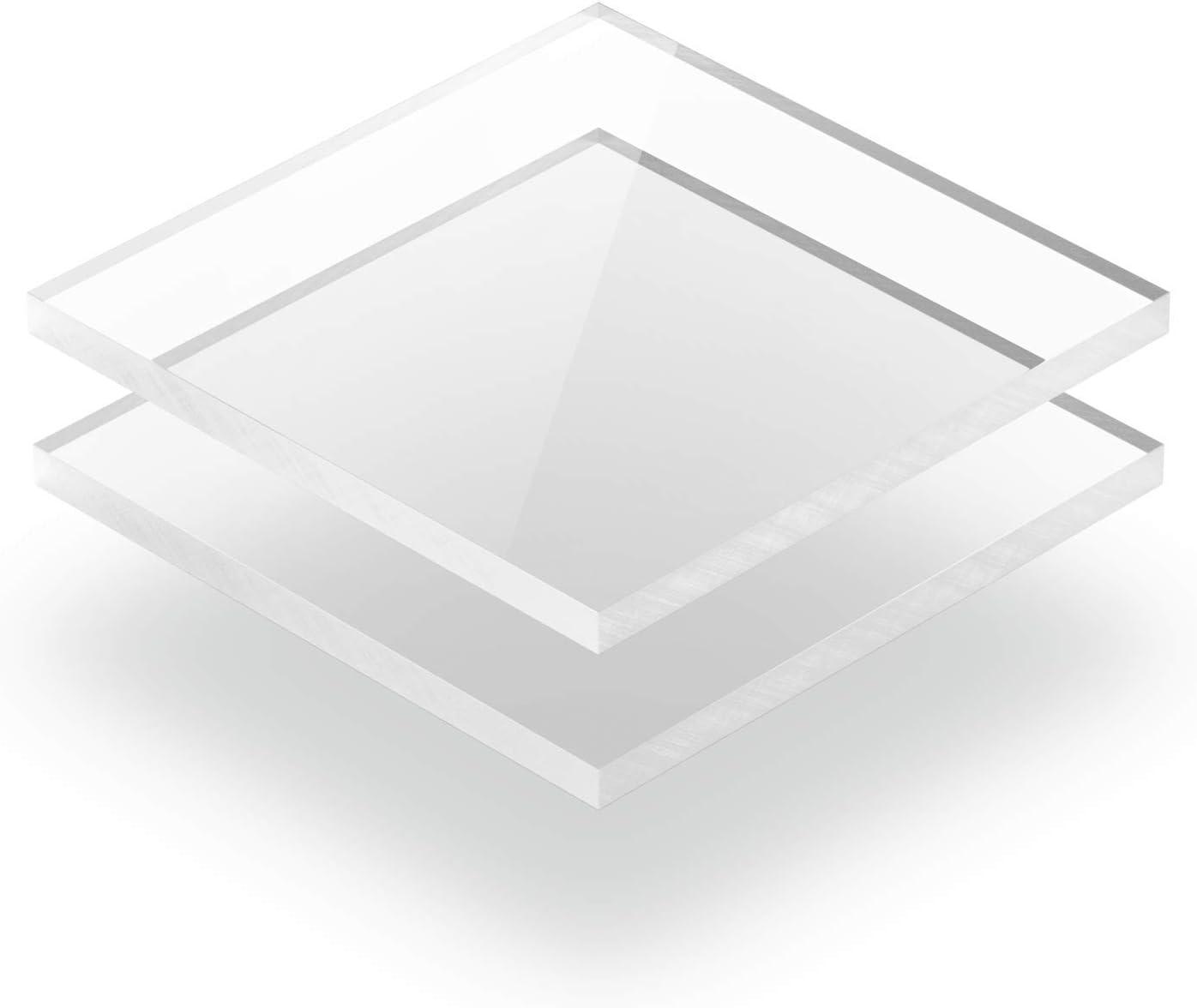 40 x 10 cm 400 x 100 mm Kunststoffplattenonline.de Acrylgas XT Platten//Acrylglasplatten XT Transparent 4mm im Zuschnitt