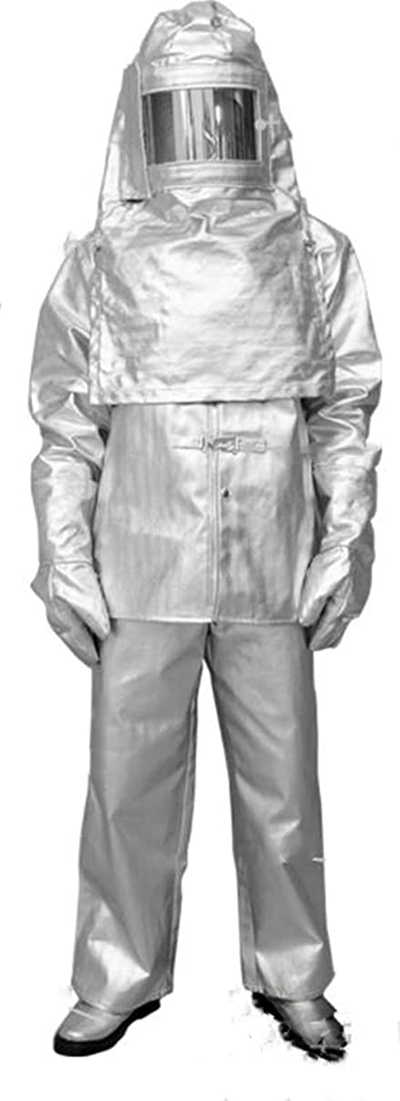 圧倒的モバイル生活消防服 断熱/抗熱/耐高温 しょうぼう 防災/工業/作業 S/M/L/XL/XXL/XXXL 銀色