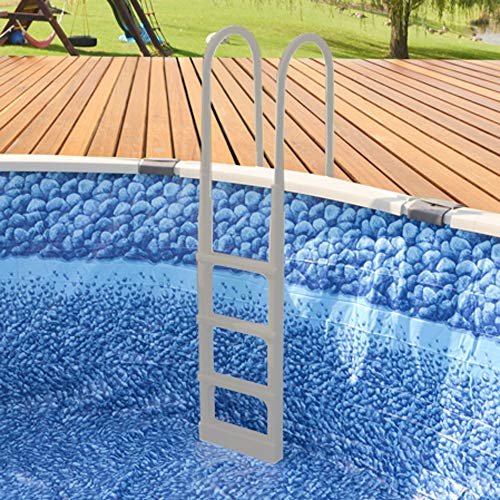 Main Access 200300T ProSeries 54 Inch Adjustable in Pool Step Ladder for Above Ground Swimming, Hot Tub, Jacuzzi, Bathtub, Sauna, or Whirlpool, Taupe