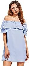 Best blue dress off shoulder Reviews
