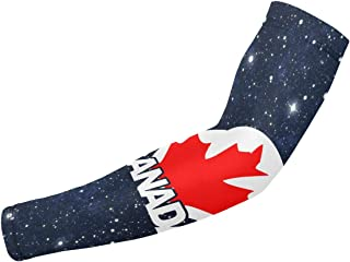 ARMYE269 Venezuela Flag Canada Maple Leaf Unisex Arm Cover Sleeves