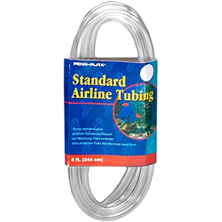 Airline Tubing for Aquariums –Clear and Flexible Resists Kinking, 8 Feet Standard