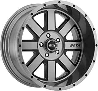 SOTA Offroad 569AB A.W.O.L. Anthra-Kote Blk/Anthra-Kote w/Blk Window/Blk Rivet Wheel with Painted Finish (22 x 12. inches /5 x 5 inches, -51 mm Offset)