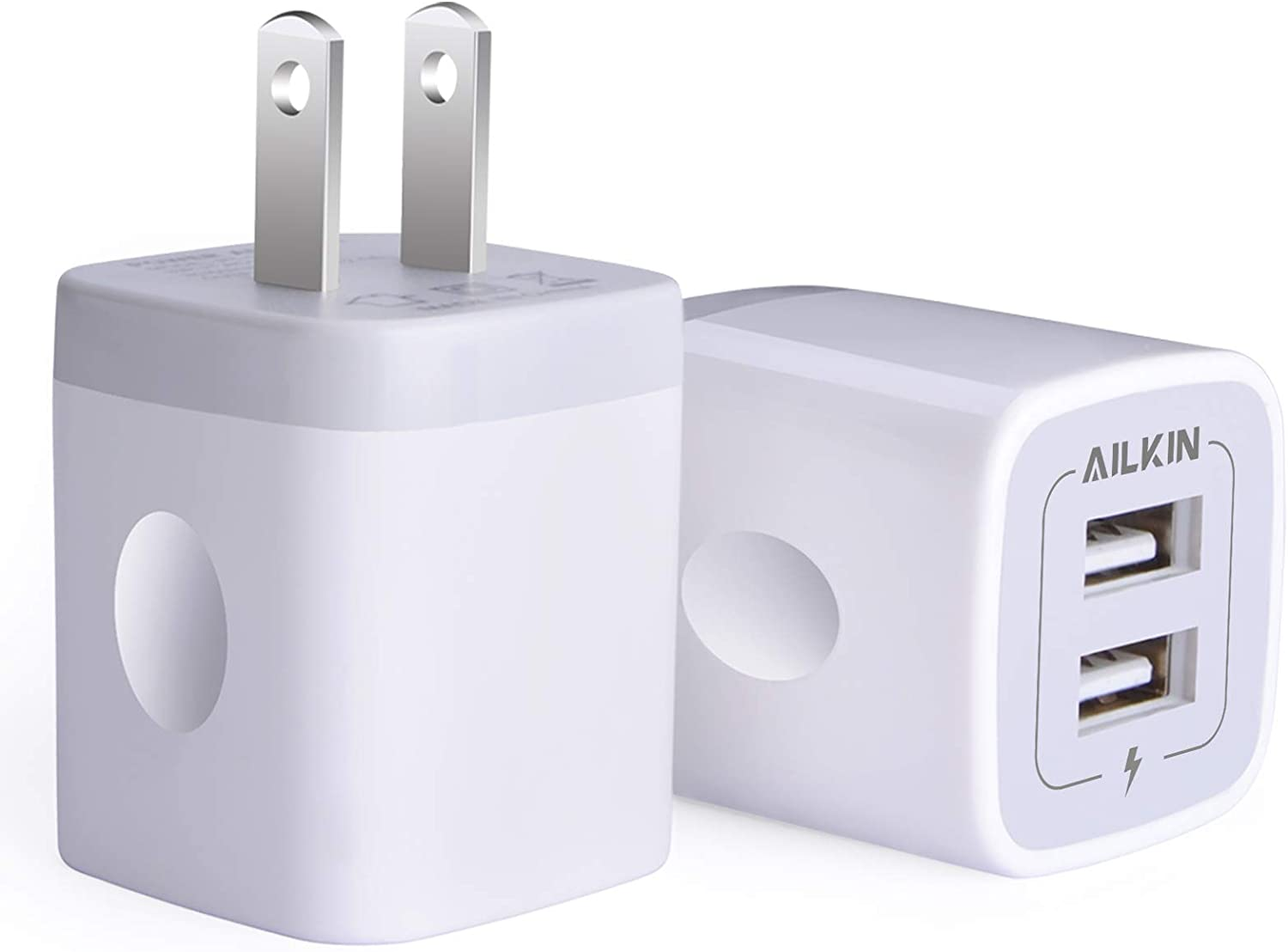 USB Wall Japan Maker New Charger Adapter AILKIN Dual 2.1Amp Por 2-Pack Superior
