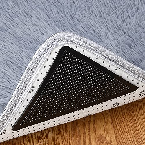Rug Grippers , Carpet Area Flooring pad, Rubber Anti Slip Padding, Rug Gripper for Hardwood Floors, (4 Per Pack), (Not Suitable for Carpet with Rubber or Silicone Backing)