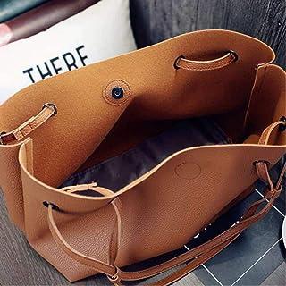 Women'S Pu Leather Shoulder Tote Bag Wallet Tote Crossbody Sale