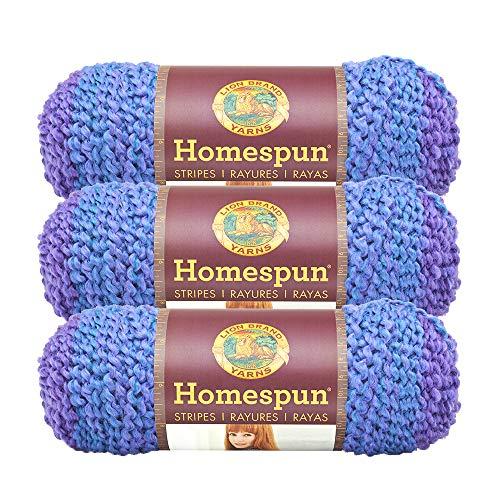 (3 Pack)   Homespun Yarn, Petunia Stripes - Lion Brand Yarn 790-226E