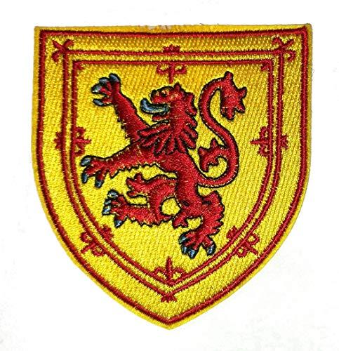 Drapeau Écosse Shield Fer brodé sur Patch 9 x 8.3 cm