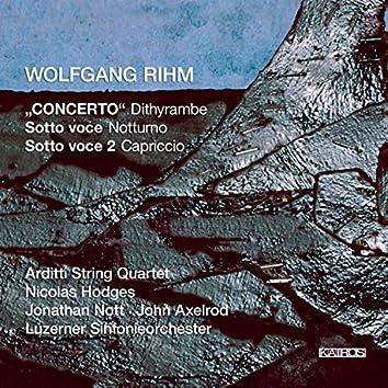 """Wolfgang Rihm: Concerto """"Dithyrambe"""", Sotto voce """"Nocturne"""" & Sotto voce 2 """"Capriccio"""""""