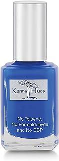 Esmalte de uñas natural orgánico Karma pintura de uñas no tóxica vegana y sin crueldad (AZUL AZUL)