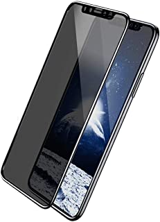 شاشة حماية من الزجاج المقوى بتغطية كاملة للحفاظ على الخصوصية لجهاز ابل ايفون اكس ار (6.1) - لون اسود