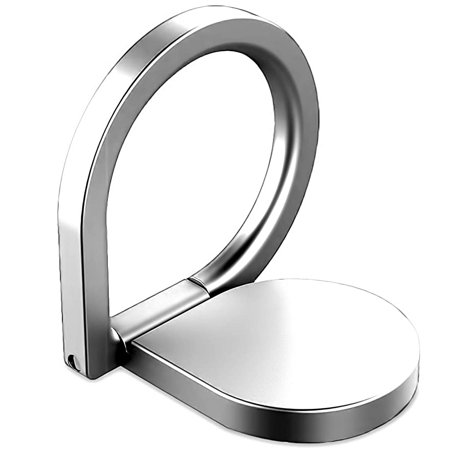 Ring Holder Finger Kickstand -iEugen Metal Ring 360 Rotation Grip Universal Loop Mount Stent Compatible with Magnetic Car Mount,Phone Xs Max XR X 8 7 6 6s Plus Galaxy S9 S8 S7 All Smartphone-Silver