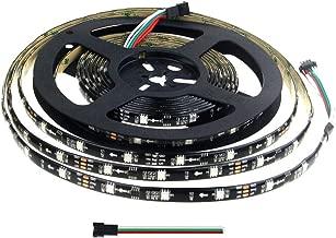 Aclorol WS2811 LED Strip 12V Programmable Digital Addressable 5050 RGB 5M 150 LED Strip Dream Color Black PCB IP65 Waterproof