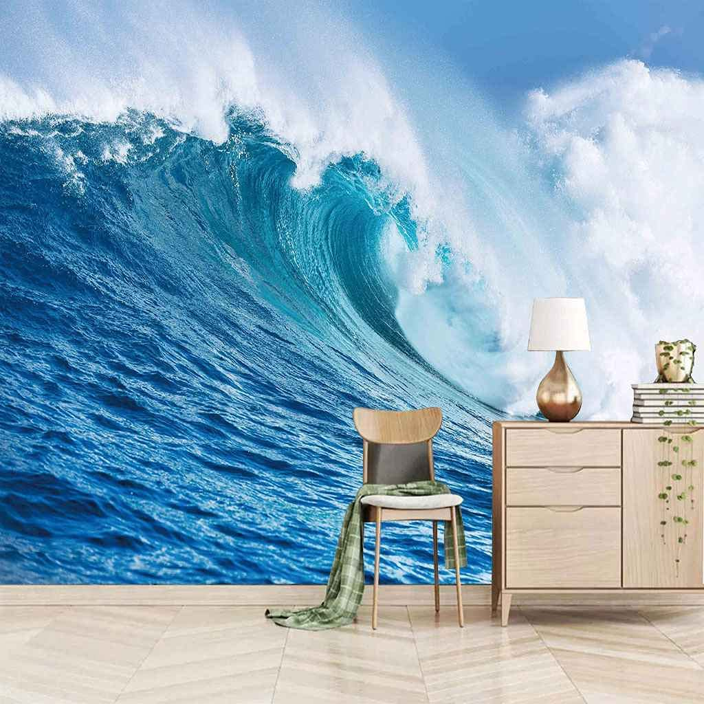 HWCUHL 3D Wall Stickers Mural Blue Murals trust Ocean f Ranking TOP15 Wave Wallpaper