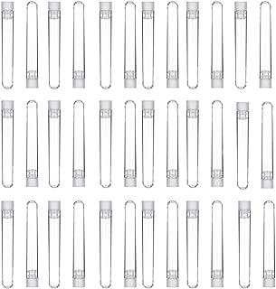 Tubos de ensayo de pl/ástico transparente de 20 ml con tap/ón de corcho para plantar agua en flores y dulces Hnmedia 12 para decoraci/ón de bodas y fiestas