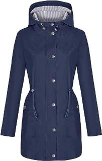 Rain Jacket Women Windbreaker Striped Climbing Raincoats Waterproof Lightweight Outdoor Hooded Trench Coats S-XXL