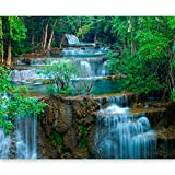 artgeist Wall Mural Waterfall 116' x 91' XXL Peel and Stick Self-Adhesive Wallpaper Removable Large Sticker Foil Wall Decor Print Picture Image Design 100403-155