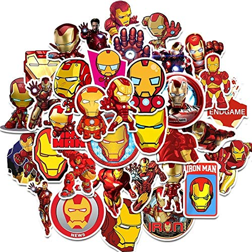 BOSSTER Sticker Pack 35 stuks Iron Man Graffiti Decal Vinyl Sticker voor laptop kinderen auto 's motorfiets fiets skateboard bagage