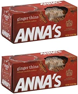 Ginger Thins Cookies - 5.25oz by Anna (Pack of 2)