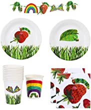 The Very Hungry Caterpillar Party Supplies Pack for 12 Guests Including Plates, Napkins, Cups And 9 Foot Banner