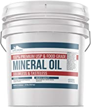 Mineral Oil (3.5 Gallon (24 lbs.)) by Earthborn Elements, Resealable Bucket, Food & USP Grade, For Cutting Boards, Butcher Blocks, Counter Tops, Wooden Utensils