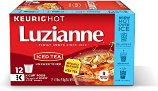 Luzianne, Iced Tea, Unsweetened Iced Tea, K-Cups, 12 Count, 2.16oz Box (Pack of 3)