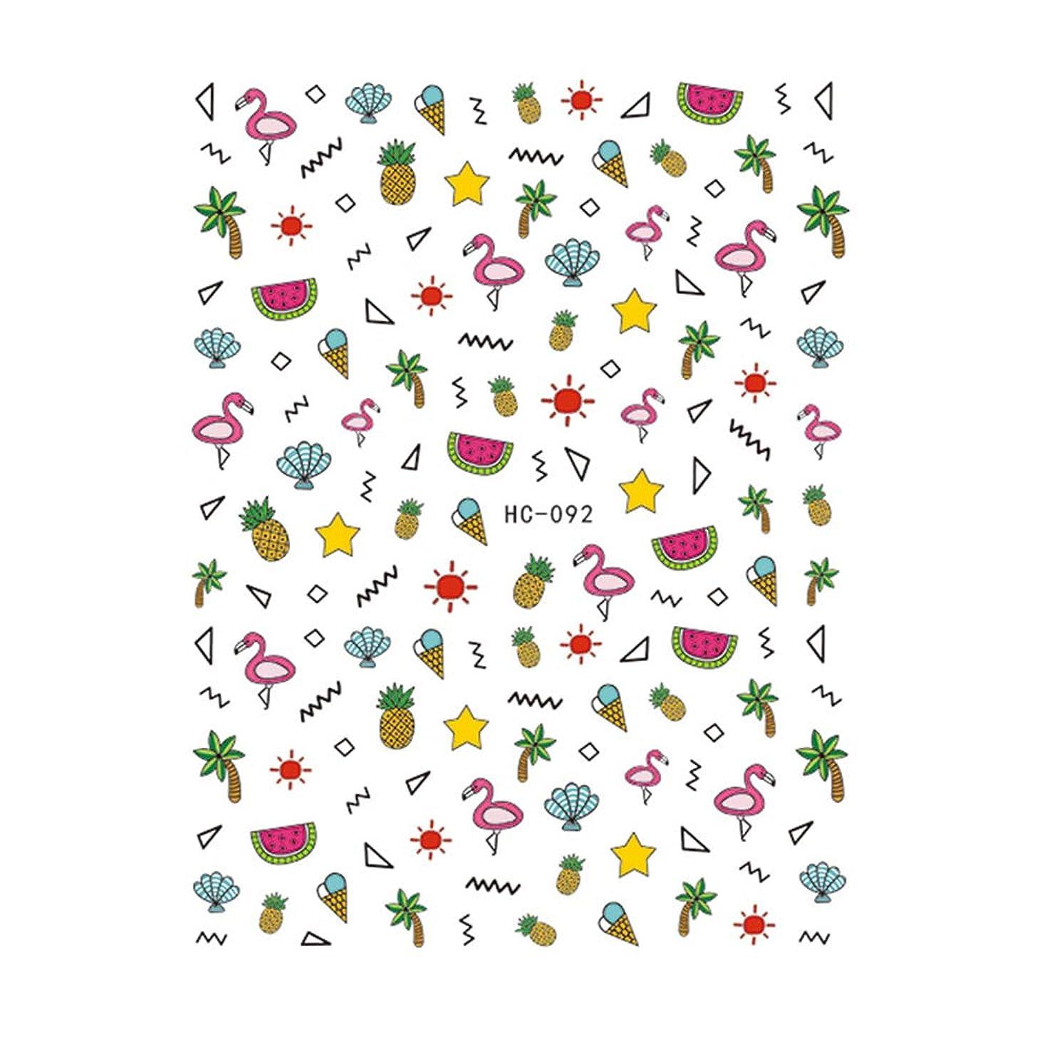 イベント栄光のリハーサルPoonikuu 女の子たち フラミンゴネイルステッカー 可愛いネイル飾 5枚セット