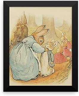 Paper Moon Media Mrs Rabbit and Bunnies Framed Poster, Beatrix Potter Peter Rabbit Framed Art Print