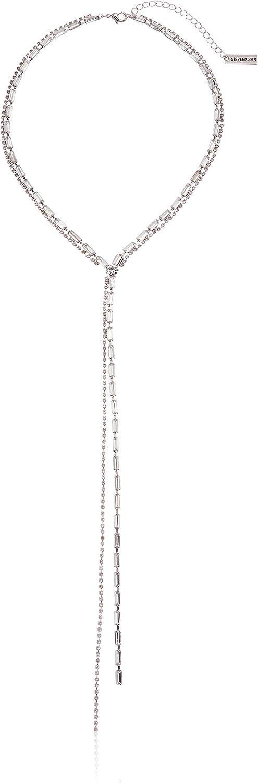 Steve Madden Women's Rhinestone Y Necklace