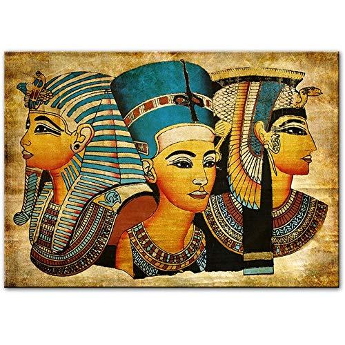 N / A Die mysteriöse Cleopatra Wandkunst Leinwand Malerei Wandkunst für Wohnzimmer Home Decor (kein Rahmen) 30x45CM NO Rahmen