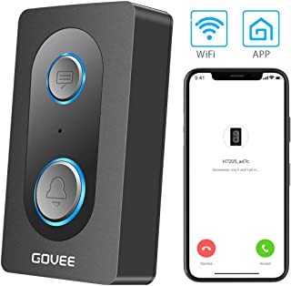 Govee WiFi Doorbell, Wireless Two-Way Talk Audio Doorbell with Leave Voice Message Function, Waterproof Smart Doorbell Chime for Home Office Apartment