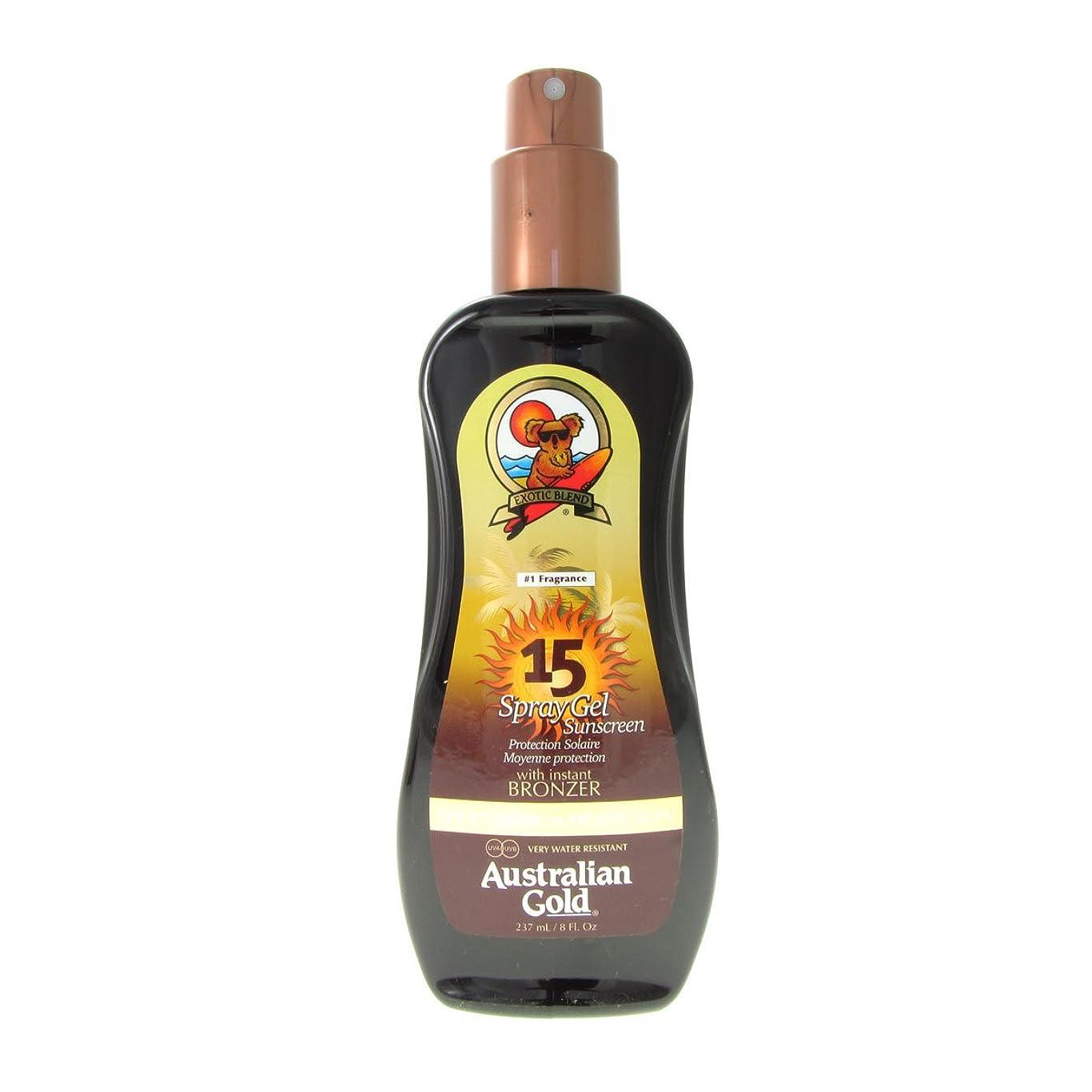 過度にビジョン施設Australian Gold Spray Gel Spf15 Instant Bronzer 237ml [並行輸入品]