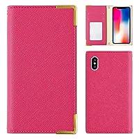 LG K50 ケース 手帳型 LGエレクトロニクス スマホケース ピンク 可愛い ゴールドフレーム