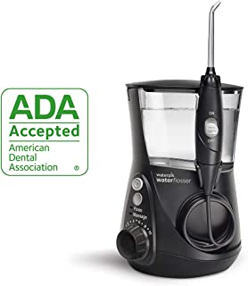 Waterpik Water Flosser Electric Dental Countertop Oral Irrigator For Teeth Aquarius Professional, WP 662 Black