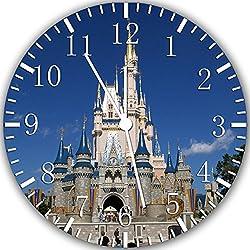 Cinderella Castle Frameless Borderless 10 Wall Clock W317 Nice for Gift or Room Wall Decor