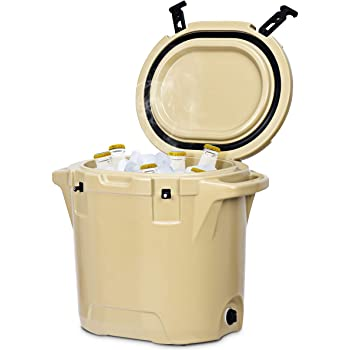 Giantex 27 Quart Cooler Ice Chest Outdoor Insulated Heavy Duty Cooler Fishing Hunting Sports () (Desert Tan)