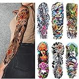 Leoars Extra Large Sleeve Temporary Tattoos, Full Arm Tattoo Sleeves, Fake Sleeve Tattoo Stickers for Men Women, 6-Sheet