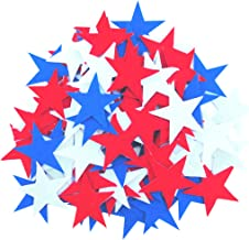 Playfully Ever After 1.5 Inch Red, White & Blue 85pc Felt Star Stickers