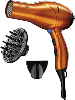 INFINITIPRO توسط CONAIR 1875 وات سالن عملکرد AC موتور یک ظاهر طراحی شده ابزار / مو خشک کن؛ نارنجی