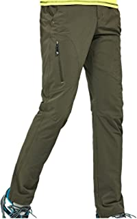 Thin and Elastic Waterproof Pants Hiking Pants for Outdoor Sport Men's Army Green Quick Dry Pants Cloth (Size : XXL)