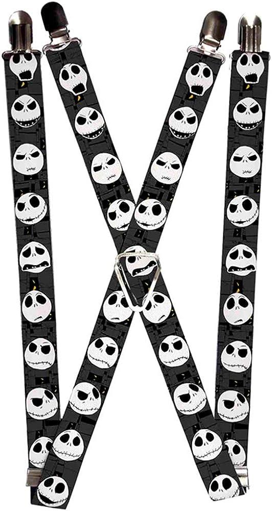 Buckle-Down Suspenders-Nightmare Before Christmas Jack Expressions Gra