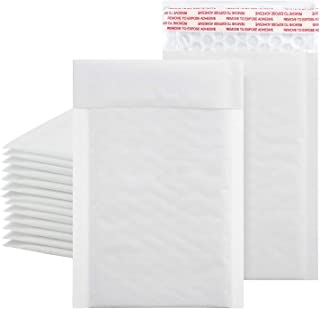 Metronic 6x10 Inch Kraft Bubble Mailers in White,Padded Envelopes, Seal-Seal Shipping Bags, Mailing Envelopes, Packaging f...