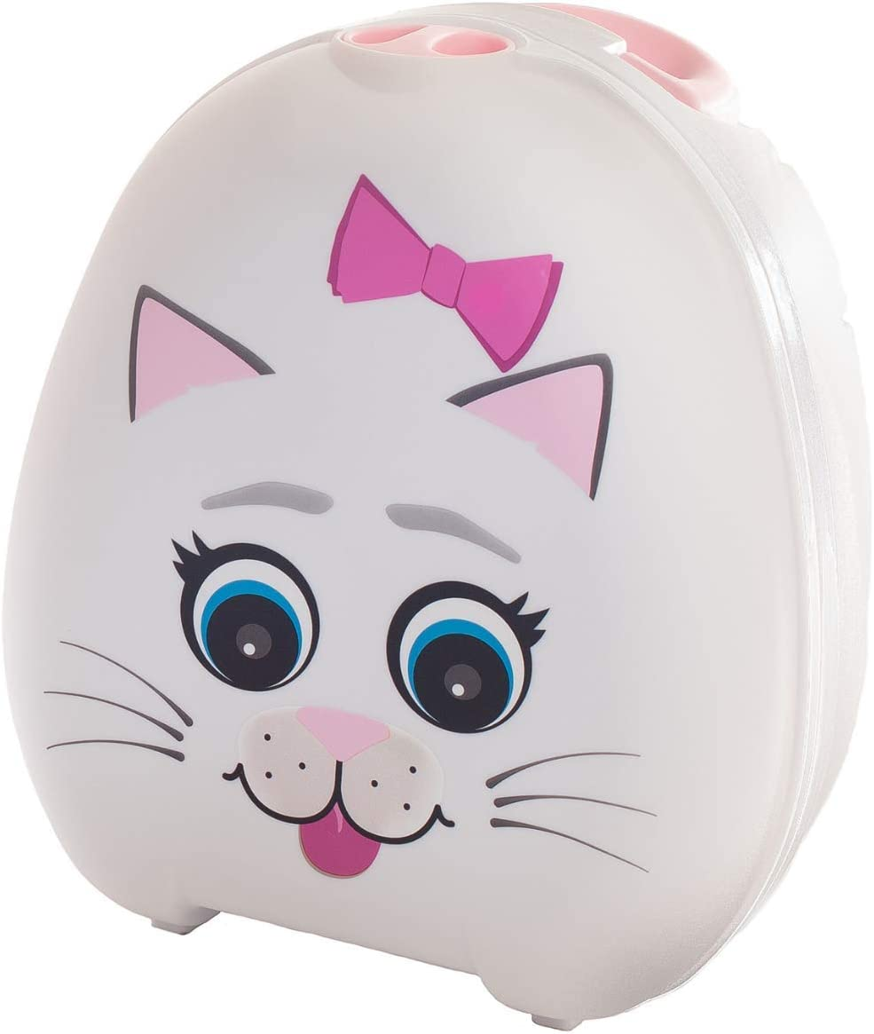 My Carry Potty - Cat Travel Potty, Award-Winning Portable Toddler Toilet Seat for Kids to Take Everywhere