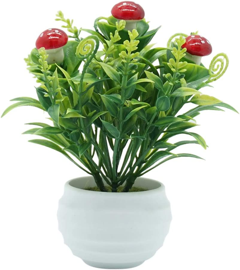 XISENOCI Artificial sold out latest Fruit Tree Mushroom Fr Strawberry