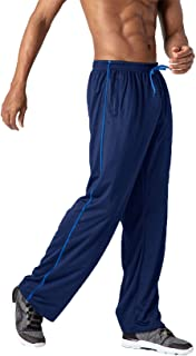 TOTNMC Men's Lightweight Workout Sweatpants Open Bottom Athletic Track Pants for Running,Training
