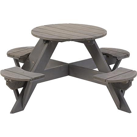 Jack and June PG504W Cedar Circular Picnic Table Outdoor Play