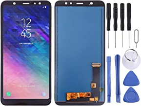 Qinfang Professional Smart Phone Screen Repair Replacement Tool Kit,LCD Screen and Digitizer Wide Assembly (TFT Real) for Samsung Galaxy A6+ (2018)(Black) (Color : Black)