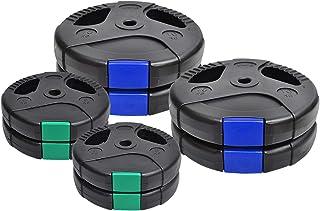 Weight Plates 60kg - Weight Plates Set 10KGx4 + 5KGx4- Standard 26.5mm - - Dual Grip Ez Handle PVC Coated - Weight Trainin...