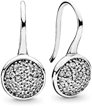 PANDORA Jewlery - Dazzling Droplets Earrings for Women in 14K Gold and Sterling Silver with Clear Cubic Zirconia