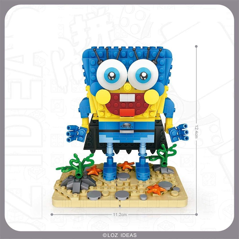 Generic LOZ Blocks Building Bricks Cartoon brinquedos Model Captain Squarepants Auction Figures Educational Kids Toys 1101-1104 1103